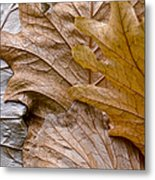 Autumn Leaves Of Gold Metal Print