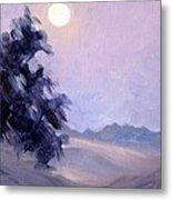 Winter Moonrise Metal Print