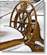 Winter On Board Metal Print