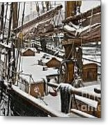 Winter On Deck Metal Print