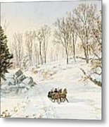 Winter On Ravensdale Road Metal Print