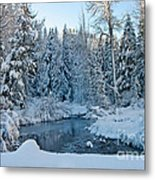 Winter On The Truckee River Metal Print