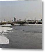 Winter Panoram Peterburg Metal Print