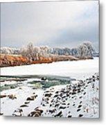 Winter Red River 2012 Metal Print by Steve Augustin