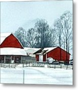 Winter Respite In The Heartland Metal Print