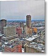 Winter Scene Downtown Buffalo Metal Print