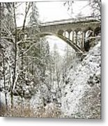 Winter, Shepperds Dell, Columbia River Metal Print