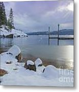 Winter Shore Metal Print by Idaho Scenic Images Linda Lantzy