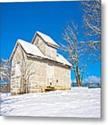 Winter Smoke House Metal Print