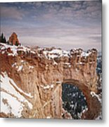 Winter Snow Covers The Eroded Natural Metal Print by Gordon Wiltsie