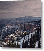 Winter Snow Covers The Landscape Metal Print