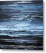 Winter Storms And Moonlight No1 Metal Print by Mike   Bell