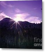 Winter Sun Winking Over The Mountains Metal Print