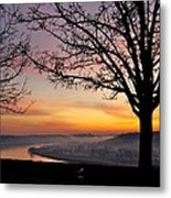 Winter Sunrise In Eden Park Metal Print