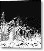 Winter Sunrise On Mount Rainier Metal Print