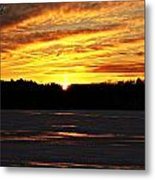 Winter Sunset I Metal Print