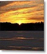 Winter Sunset II Metal Print