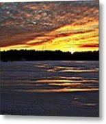 Winter Sunset Iv Metal Print