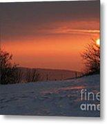 Winter Sunset Metal Print by Michal Boubin