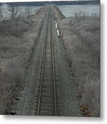 Winter Tracks  Metal Print
