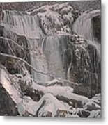 Winter Waterfalls Metal Print