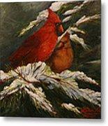 Winters Cardinals Rule Metal Print