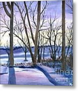 Winter's Eve Metal Print