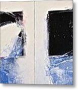 Winters Here - Then Diptych Metal Print