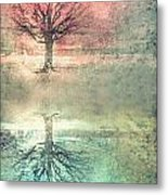 Winter's Reds And Blues Metal Print