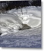 Winter's Satin Blanket Metal Print