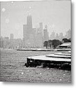 Wintery Chicago Metal Print