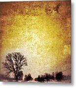 Wintery Road Sunrise Metal Print by Jill Battaglia
