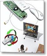 Wireless Home Video Game System Metal Print by Jose Antonio PeÑas