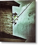 Wires On House In Storm Metal Print