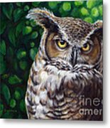Wisdom Great Horned Owl Metal Print