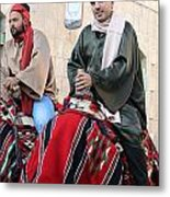 Wisemen On Their Camels Metal Print
