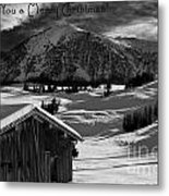 Wishing You A Merry Christmas Austria Europe Metal Print