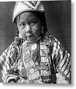 Wishram Girl 1909 Metal Print
