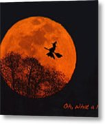 Witchy Moon Metal Print