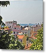 With A Seaview Metal Print