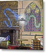 Wizards Duel Metal Print by Jeff Brimley
