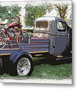 Wizzer Cycle At The Hot Rod Show Metal Print