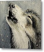 Wolf Cry...... Miniature Metal Print