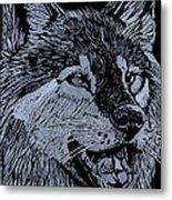 Wolfie Metal Print by Jim Ross