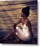Woman At A Lake Metal Print by Joana Kruse