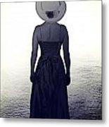 Woman At The Shore Metal Print by Joana Kruse