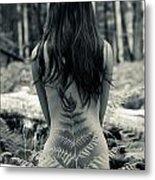 Woman Fern 2 Metal Print