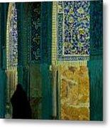 Woman In Mosque Metal Print