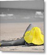 Woman In Yellow Hat Metal Print