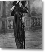 Woman Modeling Dress, A Frock Of Moon Metal Print